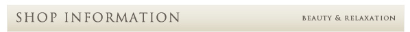 Shop infomation
